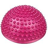 Lommer Massageball, 16cm Fuß Massage Halbe Runde Stacheliger Ball Fuss Igelball Massage Therapieball Akupressur-Ball Stressabbau für Kinder und Erwachsene (Rosa)