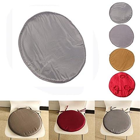 35x 35x 2cm Round Circular Office Patio Bistro Kitchen dining Tie On Chair Seat Pad Mat cushion