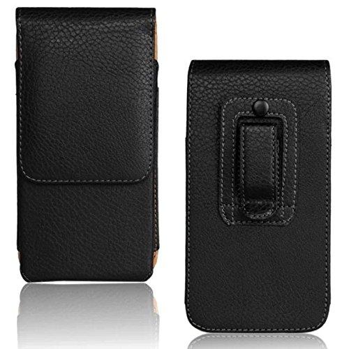 iPhone 6 Plus / 6s Plus / 7 Plus / 8 Plus Premium Leder Case mit Gürtelclip und Gürtelschlaufe vertikal Gürteltasche mit Magnetclip [kompatibel für iPhone 6 Plus / 6s Plus / 7 Plus / 8 Plus] Schwarz - Iphone Leder 6 Vertikal Case
