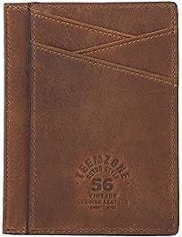9561eeb1b606b fermasoldi uomo pelle vitello dauphine marrone calamita porta carte di  credito in pelle magnete portafoglio uomo
