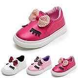 HUHU833 Children Fashion Baby Girls Bowknot Shy Eyes Sneaker Kids Casual Shoes