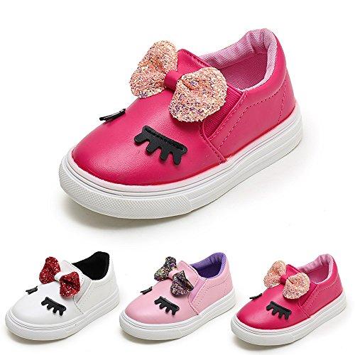 <span class='b_prefix'></span> HUHU833 Children Fashion Baby Girls Bowknot Shy Eyes Sneaker Kids Casual Shoes