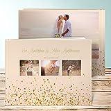 Fotobuch Hochzeit, Geflitter 28 Seiten, 14 Blatt, Hardcover 290x222 mm personalisierbar, Orange