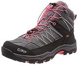 CMP Campagnolo Unisex-Erwachsene Rigel Mid WP Trekking-& Wanderstiefel, Grau (Grey-Red Fluo), 41 EU