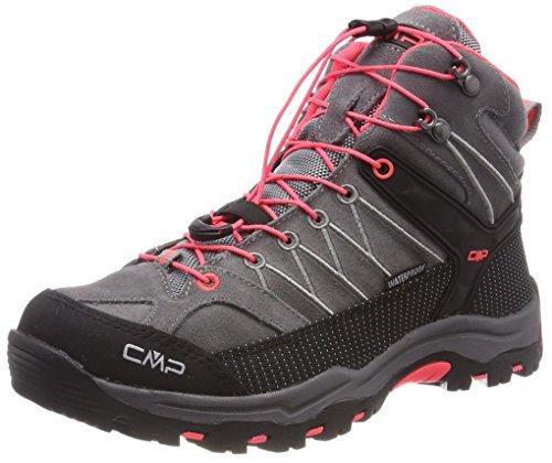 CMP Campagnolo Unisex-Erwachsene Rigel Trekking-& Wanderstiefel, Grau (Grey-Red Fluo), 39 EU