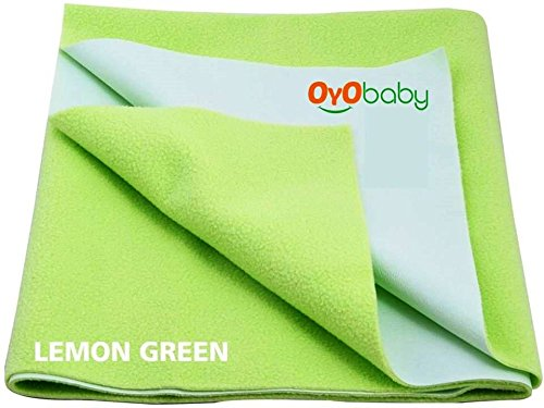 OYO BABY - Quickly Dry Super Soft, Waterproof, Reusable Mat / Underpad / Absorbent Sheets / Mattress Protector (Size: 70cm X 50cm) / (28 inch X 19 inch) Pista Green,S  available at amazon for Rs.153