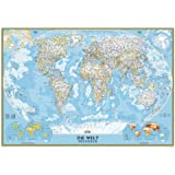 National Geographic Map Classic World Map, Großformat, laminiert, Planokarte