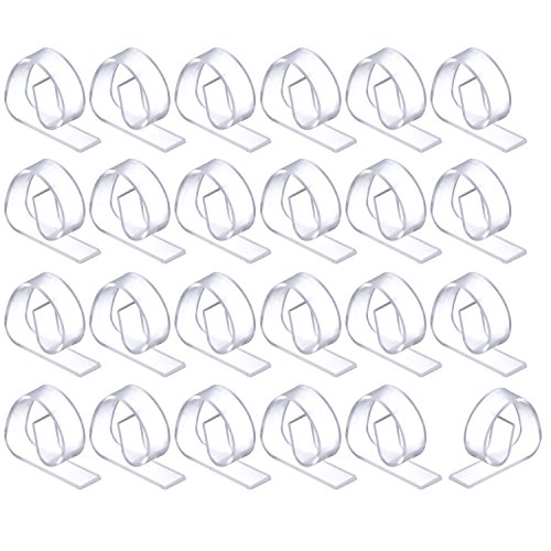 24 Pack Plastic Tablecloth Clips, Clear Outdoor and Indoor Party Table Cloth Holders Table Cover Clamps Test