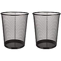 EUROXANTY Corbeilles à papier | Poubelles en acier inoxydable | Boîtes à ordures de bureau | Grille métallique | 27 x 24…