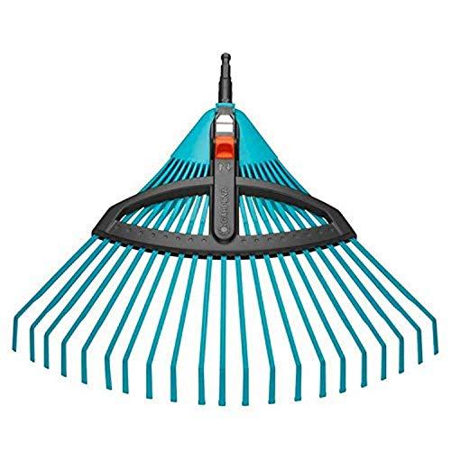 GARDENA combisystem-Kunststoff-Verstellbesen: Laubbesen mit verstellbaren elastischen Kunststoffzinken, Arbeitsbreite 35 bis 52 cm, wackelfreies Arbeiten (3099-20)