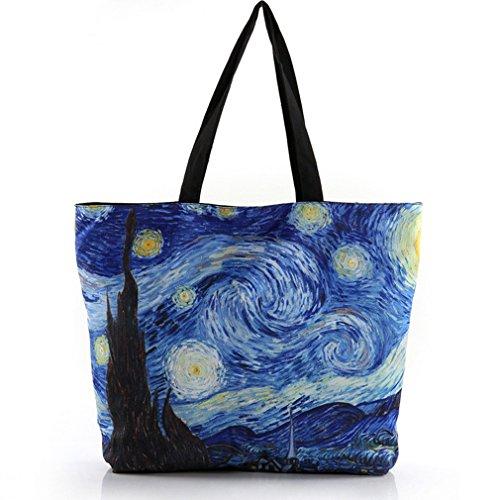 Belsen - Bolso hombro mujer multicolor Abstract Talla