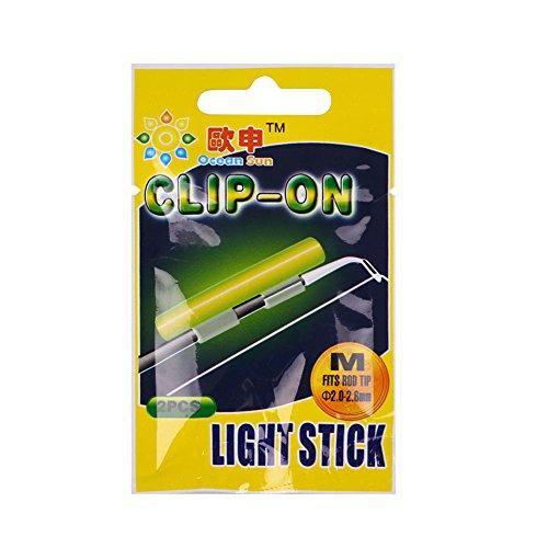 LISRUI 2stk Fishing Fluorescent Lightsticks Nachtlicht in dunklen Leuchtstäben