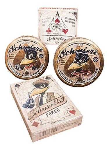 Schmiere - 2er Set Pomade + Pokerblatt #mittel+hart - Pomade from Rumble59 (Bath Soap-geschenk-set)