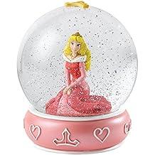 Enesco Enchanting Disney - Bola de nieve, Aurora, resina y vidrio, 10 cm