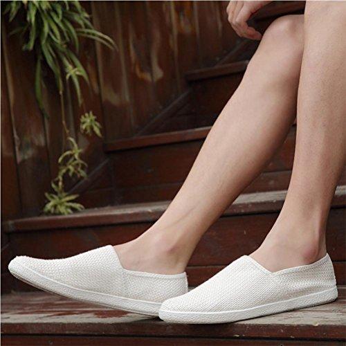 Scarpe casual uomo scarpe pigro scarpe chiare scarpe nette White