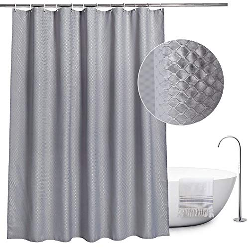 Fabric Shower Curtain Grey By EurcrossMould Proof And Waterproof Wallfe For Bathroom With 12pcs HooksSize 180 X 180cm Drop Buy At Amazon