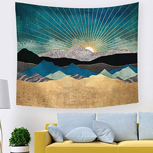 Tapestry Wall Hanging,E4Vulkan Sonne Rot Muster Im Indischen Stil Gothic Groß Wandteppiche, Print Fabric Böhmischen Mandala Psychedelischen Home Wohnheim Wohnzimmer Schlafzimmer Kunst Wand Dekor -