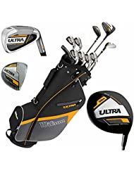 Wilson Ultra Herren Komplettes Golfschläger Set & Ständer Tasche Schläger mit Stahlschaft Golf Komplettset Eisen Hölzer Driver Bag Rechts-Hand