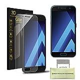 Samsung Galaxy A3 (2017) Pellicola Protettiva, AKPATI Temperato di Protezione in Vetro Dello Schermo 3D Toccare Alta Definizione Anti-Explosion Schermo Protezione - Trasparente