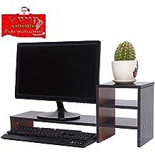 Elegant YUMU Bildschirmständer Holz, Monitorständer, Bildschirmerhöhung, Computer  Tisch, Laptop Tisch, Schreibtischaufsatz,