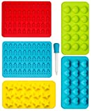 Candy, Sweets, Chocolate Silicone Moulds & Ice Cube Trays, Gummy Bear Moulds, Heart, Star and Seashell Moulds For Kids Party's, Set of 6