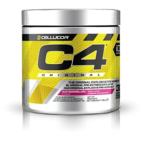 51U7SgRFZPL. SS500  - Cellucor C4 Original Pre Workout Powder Energy Drink w/ Creatine Monohydrate & Beta Alanine, Watermelon, 30 Servings