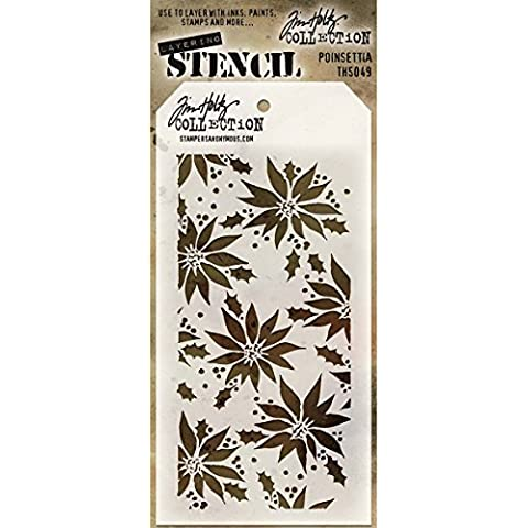 Stampers Anonymous Tim Holtz Layered Stencil, 4.125