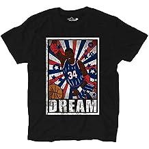 Camiseta camiseta Baloncesto Vintage parodia Hakeem Olajuwon All Star Dream 1 Shirts, XKTSA01780_L, Black