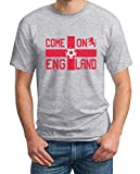 England Flagge Football Shirt - Come on England Fussball WM 2018 Herren T-Shirt XX-Large Grau