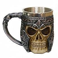 fjronline 3d tête de mort mug Vous voulez quelque chose horrible pour décorer votre maison pour Halloween? Le crâne tasse serait votre meilleur choix. Spécifications: Capacité: 350ml/21.35CU dans Matériau: acier inoxydable et résine Remarque: ...