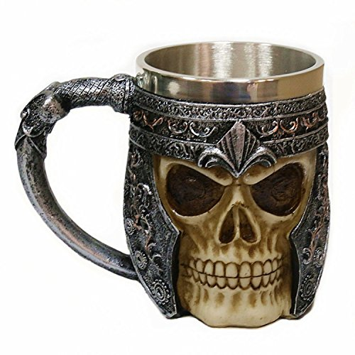 3D Edelstahl Schädelschale Kaffeetasse Halloween Genschenkbecher Totenkopf Tassen Trinkbecher