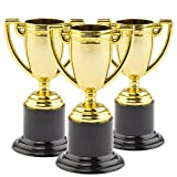 Baker Ross Mini Trofeos de Oro para Niños (Paquete de 6) Regalos infantiles para bolsas de cotillón y piñatas
