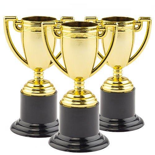 Baker Ross Mini Trofeos de Oro para Niños (Paquete de 6) Juguetes Infantiles para Bolsas de cotillón