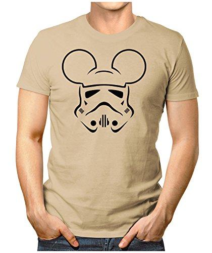 PRILANO Herren Fun T-Shirt - TROOPER-MOUSE-BLACK - Small bis 5XL - NEU Khaki