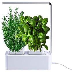 amzWOW Smart Garden - Cultivez vos herbes aromatiques - Potager d'Intérieur 100% Bio - cultiver vos propres plantes à la maison - Lumière LED incluse