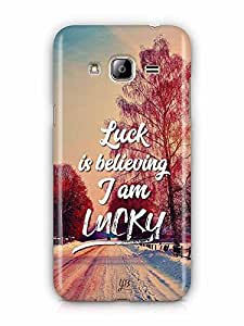 YuBingo Luck is Believing I am Lucky Designer Mobile Case Back Cover for Samsung Galaxy J3 2016