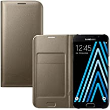 Coque Samsung Galaxy A3 2016, Ordica France® Housse Galaxy A3 2016 Etui Portefeuille Or Rabatable Rabat Protection Pochette Refermable Integrale Flip Cover