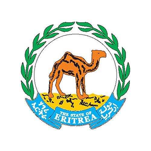 Sign eritrea coat of arms n7038 Flag COA Emblem A4 Aluminium 10x8 Metal (Coat Eritrea)