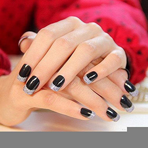 Ongles faux ongles noir for Salon pour les ongles