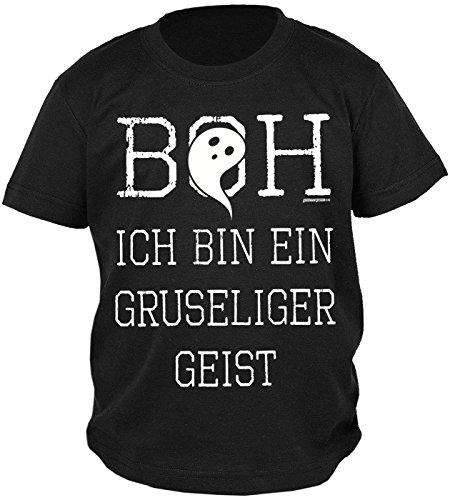 Halloween-Spaß-Shirt/Sprüche-Shirt/Fun-Shirt: Boh ich bin ein gruseliger Geist - witziges Jungen-Shirt/Kinder-Shirt