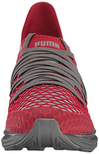 Puma Men s Ignite Limitless Netfit Sneaker  Quiet Shade-Toreador  8 UK