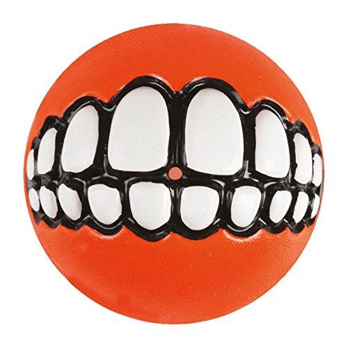 ROGZ Grinz Ball für Hunde, 8,0cm Ø rot (Rote Hund-ball)