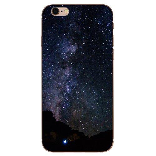 iPhone 6 Hülle, Landschaft Gebäude Sternenhimmel Muster ultra chic dünn flexibleschützend TPU Fall geschützt Cover für das iPhone 6/6s jg3