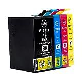 Karl Aiken 4x Grande Capacité Cartouches d'encre Epson 27 XL Compatible avec Epson...
