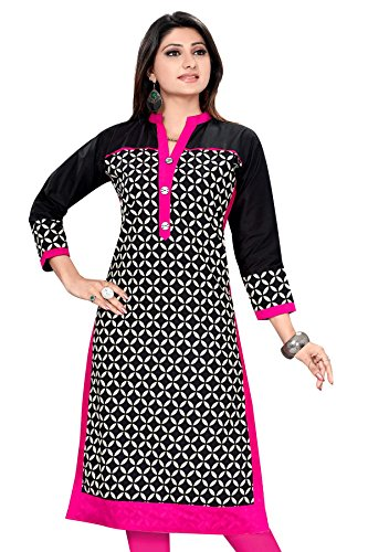 Amba Enterprises Plus Size Kurtis,Pakistani Kurtis, Long straight Kurtis for Women, Cotton Kurta Kurti, Cotton Kurtas for Women, Casual Long Straight Kurtis (AM0383)  available at amazon for Rs.575