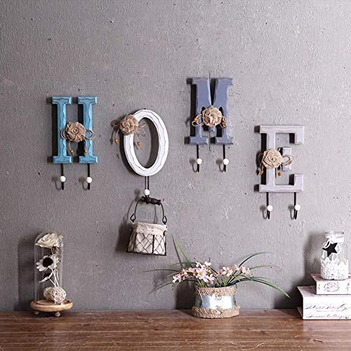 CWLLWC Kleiderbügel hängend, Wand hölzernen Haken Wandbilder Veranda Tür Leben Hostel Garderobe kreative wandhängen,
