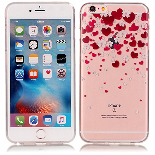 Vandot 1x Exklusive Ultra Dünn Crystal TPU Silikon Hülle Cute Dog Hund Haustier Case Für iPhone 6 6S 4.7 Zoll 0.8 mm Thin Schutzhülle Premium Matt Slim Skin Tasche Protection Case Protective Soft Back Color 12