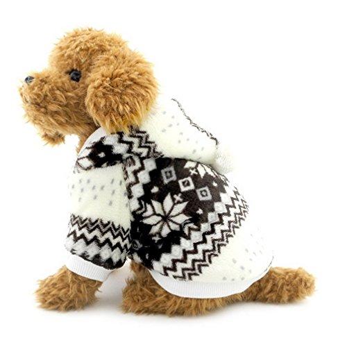 Kleiner Ranphy-Schneeflocken-Hundemantel - für kleine Hunde - Kapuzenpullover - mit Fleece gefüttert - für - Halloween-kostüme Katze Trikot