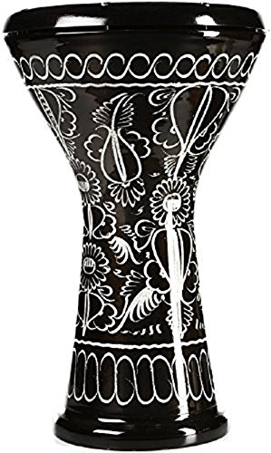Meinl Percussion HE-3018 Aluminium Doumbek mit Kunststofffell, 21,59 cm (8,5 Zoll) Durchmesser, schwarz