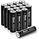 Bonai AA High-Capacity 2800mAh Ni-MH Rechargeable Batteries For Flashlight ,Toys & So On(16 Pack)